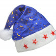 Hat Santa with ornament night sky — Stock Photo #2634297