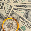 Dollars and compass — Stock Photo #2636662