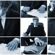 Conceptual image-grid of business photos — Stock Photo