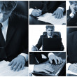 Royalty-Free Stock Photo: Conceptual image-grid of business photos