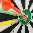 Board for darts. — Stockfoto