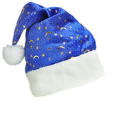 Hat Santa with ornament night sky — Stock Photo