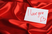 Nota su seta rossa — Foto Stock
