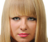Portrait closeup of the blonde — Stockfoto