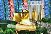 Glasses of a champagne — Stock Photo