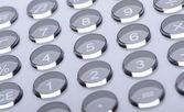 The digital keyboard. A photo close up — Stock Photo