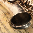 Royalty-Free Stock Photo: Old saxophone and notes