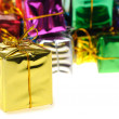 Set of gifts in boxes — Stock Photo