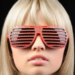 Stock Photo: Girl in stylish sunglasses - jalousie