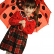 The little girl with a umbrella — Stock Photo
