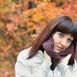 The girl in an autumn forest — Stock Photo #2647055