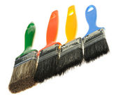 Brush for painting works — Stock Photo
