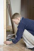 Installing the doors — Stock Photo