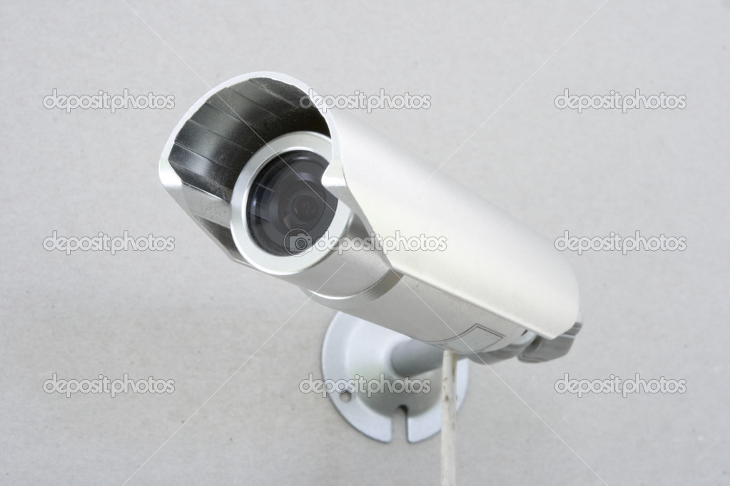 Video camera of the spying and record bolted on wall — Stockfoto #1558380