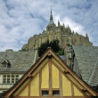 Le Mont-Saint-Michel, Monastery complex — Stock Photo