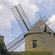 Windmill, Mont-Dol, Brittany, France — Stock Photo