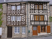 Moncontour, Timber-framed house, France — Stock Photo