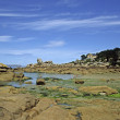 Stone coast near Ploumanach, Brittany — Stock Photo