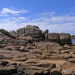 Rocky coastline, Brittany, France — Stock Photo