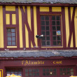 Timbered house in St-Malo, Brittany — Stock Photo