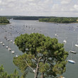 Sail boats near Combrit, Brittany — Stock Photo