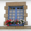 Blue window in Guidel, Brittany, France — Stock Photo