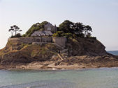 Isle with castle, Brittany, France — Stock Photo