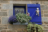 Concarneau, blue window in Brittany — Stock Photo