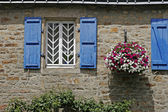 Blue stone house in Guidel, Brittany — Stock Photo