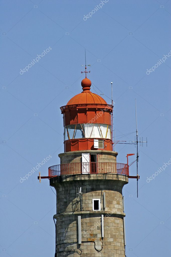 Lighthouse at Belle-Ile, Le Grand Phare, Brittany, Northern France — Stock Photo #1766725
