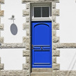 Blue door in Brittany, France — Stock Photo
