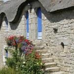 Bretonic house in Plouharnel, Brittany — Stock Photo
