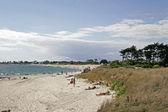 Sand beach in Larmor-Plage, France — Stock Photo