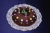 Birhday cake, Chocolatcake, 4 years — Stock Photo