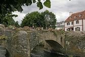 Quimperle、古い橋、ブルターニュ、フランス — ストック写真
