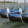 Gondolas parking, Venice, Italy — Stock Photo