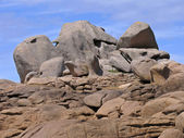Granite Rocks near Ploumanach, Brittany — Stock Photo