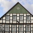 Green timbered house in Germany — Stock Photo