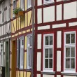 Timbered houses in Duderstadt, , Germany — Stock Photo