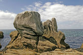 Boulder in Pointe de Trevignon, Brittany — Stock Photo