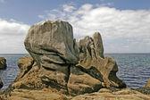 Boulder in Pointe de Trevignon, Brittany — Stock Photo