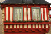 Quimper, timbered house, Brittany — Stock Photo