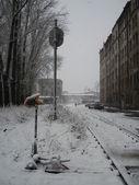 Caminhos de ferro velhos — Foto Stock