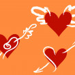 Royalty-Free Stock Vector Image: Saint Valentain\'s Hearts