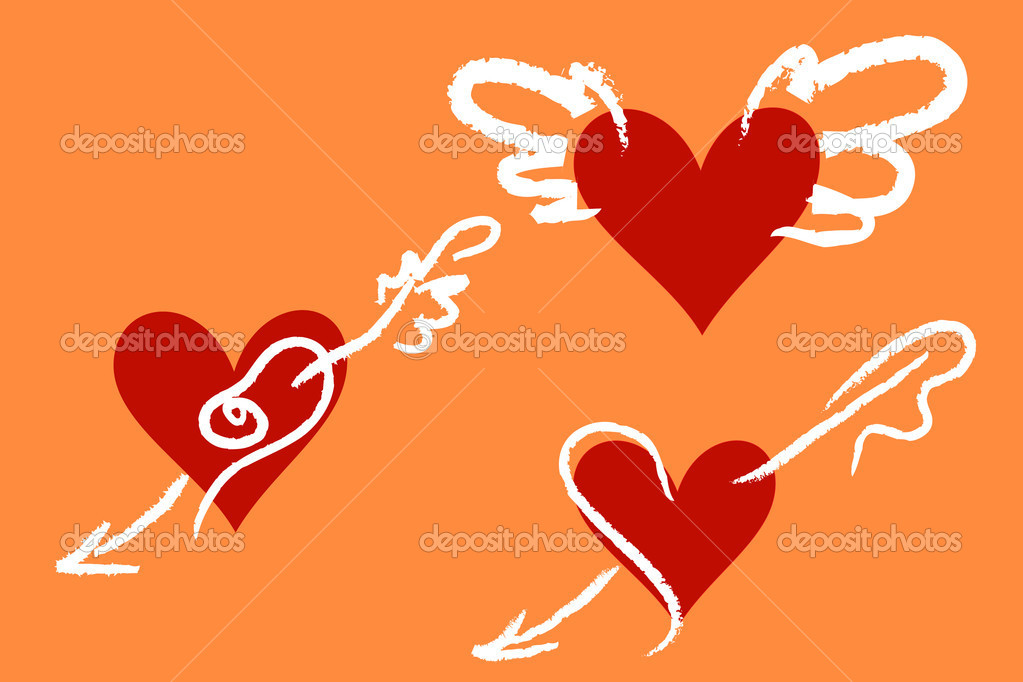 Decorative hearts for Saint Valentine Day — Stock Vector #1604765