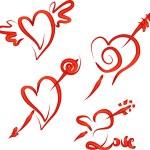 Valentine's Hearts Set — Stock Vector
