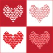 Stock Vector: Hearts background. Seamless