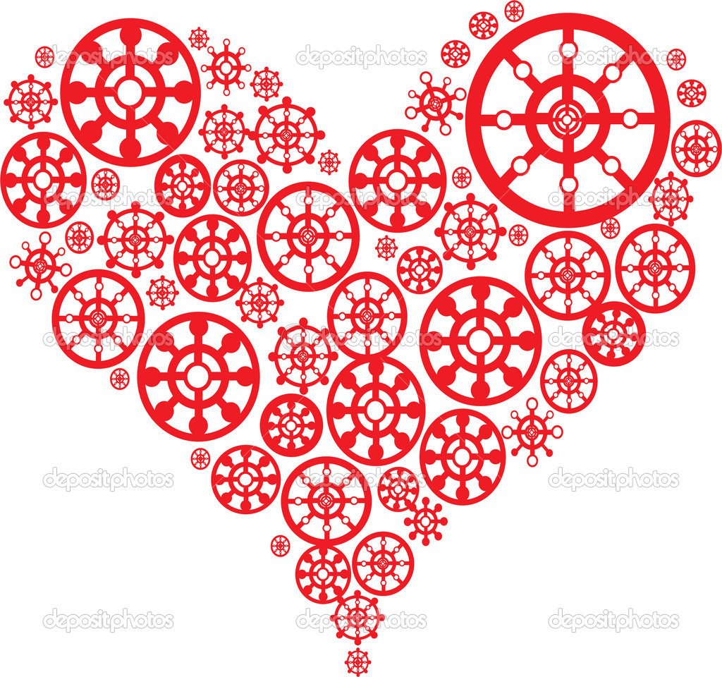 White valentines background with pattern heart. Vector illustration. Suits well for Valentine card  Stock Vector #2088061
