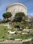 El castillo de torre redonda de windsor — Foto de Stock