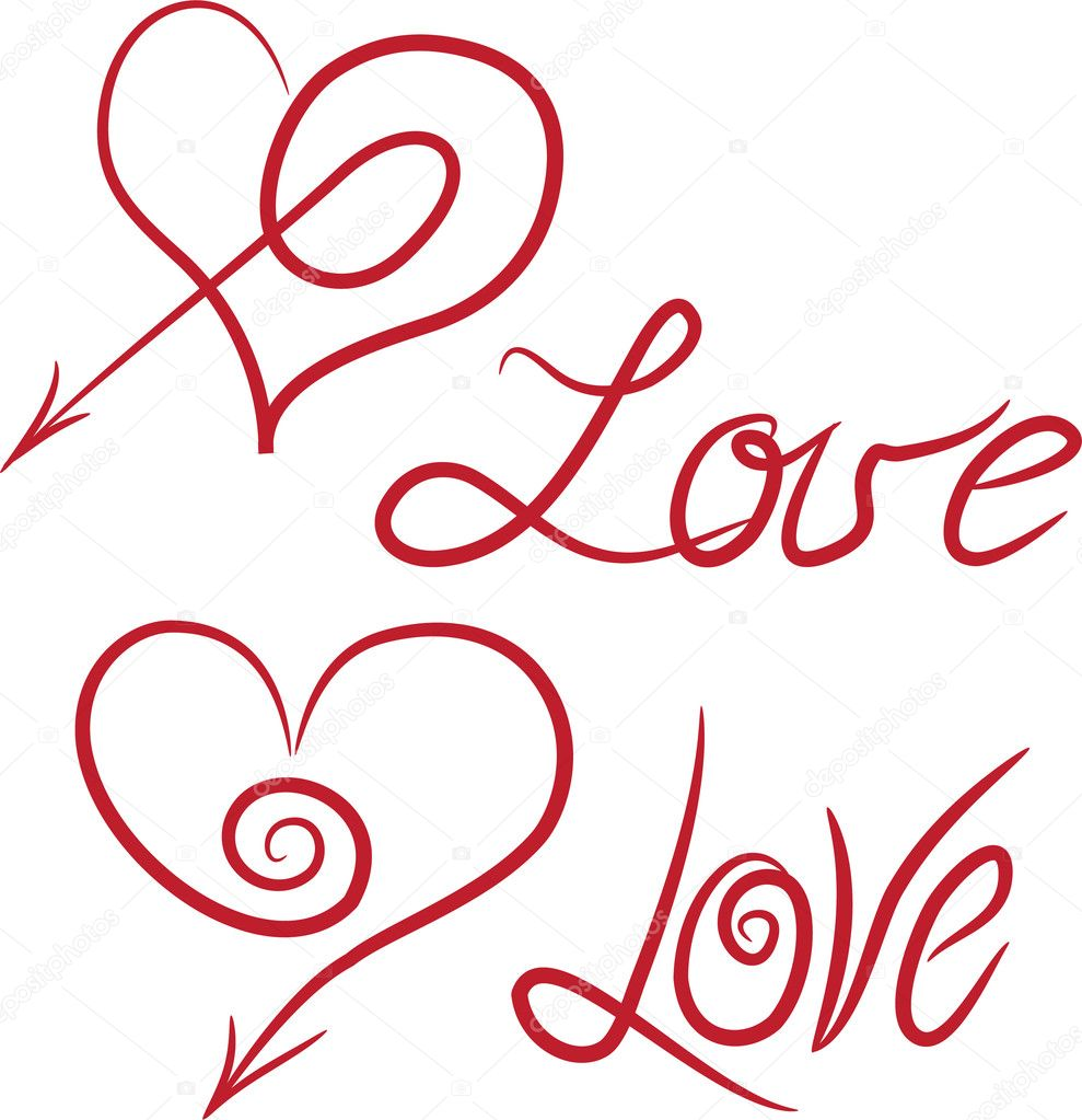 Decorative hearts.Vector illustratin. Suits well for Valentine card. — Stock Vector #2545533